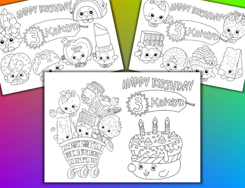 Shopkins Verjaardag Partij Gunst Shopkins Kleurende Pagina S Pdf Bestand