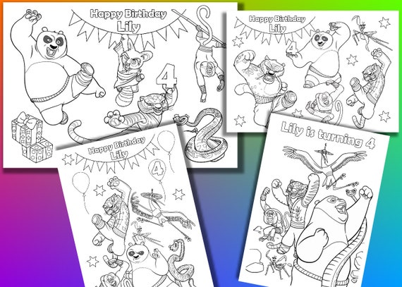 Kung Fu Panda para colorear archivo PDF de páginas Favor de