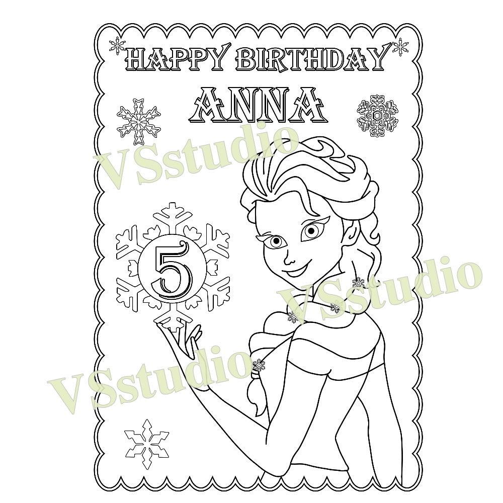 frozen verjaardag partij gunst frozen kleurplaat pdf