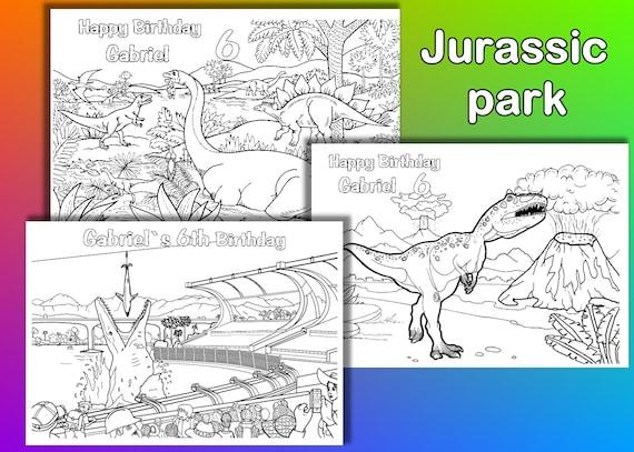 Jurassic Park Färbung Seiten Malvorlagen Dinosaurier Geburtstagsparty Pdf Datei
