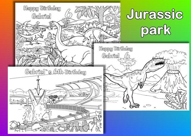 Jurassic Park para colorear páginas para colorear fiesta de   Etsy