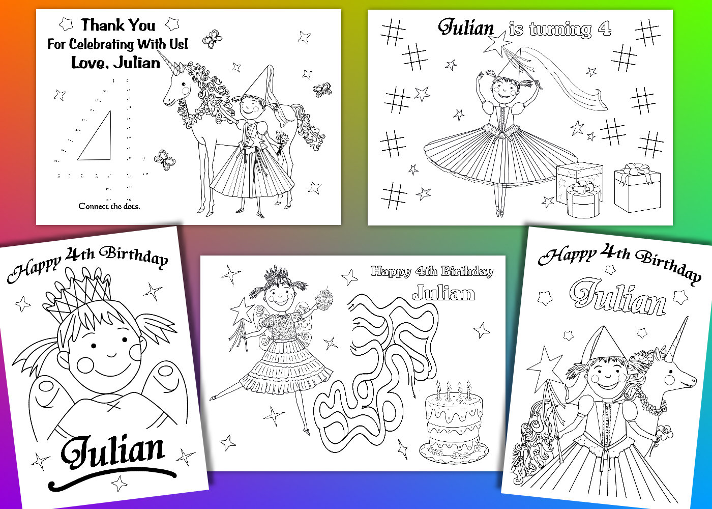 Pinkalicious Party Favor Pinkalicious coloring pages PDF | Etsy