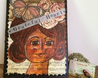 Grateful Heart Mixed Media