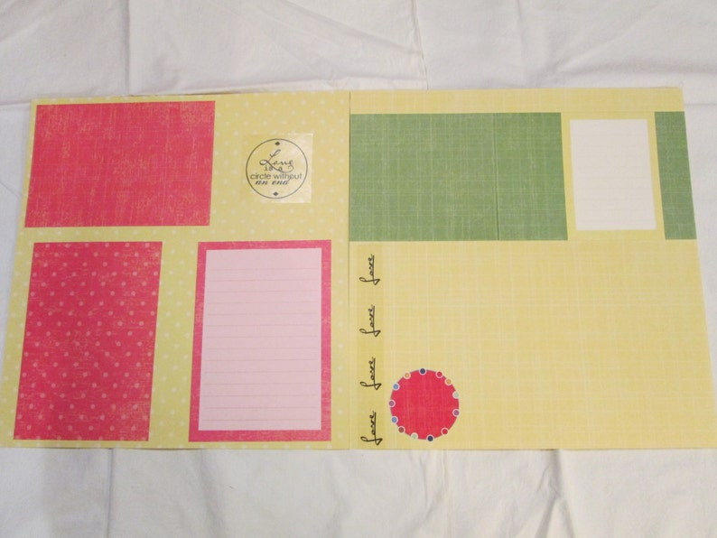 Love! Pre-made 12x12 Scrapbook Pages
