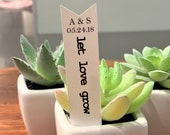 Let Love Grow Favor Tags, Succulent Favor Tag, Bridal Shower Favor Tags, Wedding Favor Tags, Seed Packet Favor Tags, Listing for TAGS ONLY