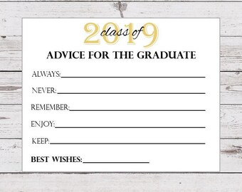 graphic relating to Advice for the Graduate Free Printable known as Commencement suggestions Etsy