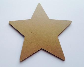 Kraft Paper Stars,Rustic Star Shaped Die Cuts, Rustic Wedding Decor, You Choose Size