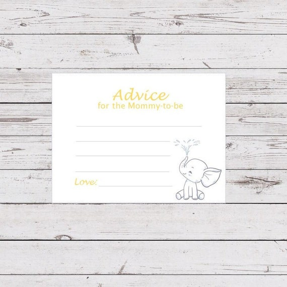 photo regarding Mommy Advice Cards Printable referred to as Information for the Mommy-toward-be Printable Playing cards, Elephant Themed Child Shower Information Playing cards, Information for Little one Shower, Instantaneous Down load