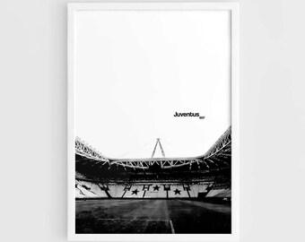 Juventus FC, Juventus Stadium Football Poster - A3 Wall Art Print Poster, Minimalist Poster, Football Poster, Soccer Poster