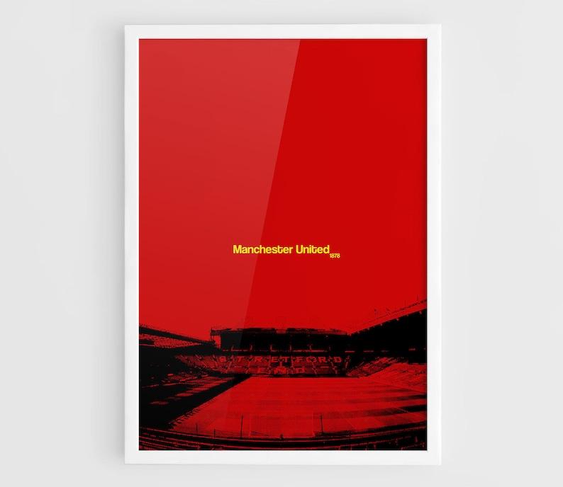 Man United FC Print Old Trafford Print. Old Trafford Poster