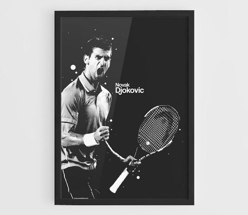 posters gifts Tennis Novak Djokovic wall art gift prints poster print
