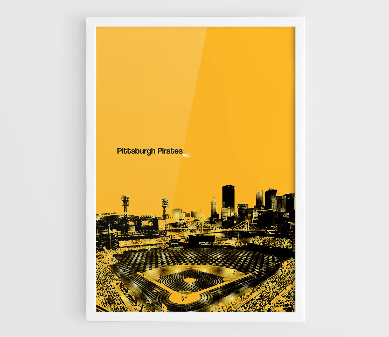 Pittsburgh Pirates PNC Park Stadium A3 Wall Art Print | Etsy