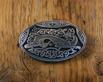 Celtic Deer Brooch