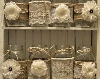 Mason jar wedding   Etsy