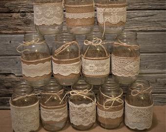 Rustic Mason Jars Etsy