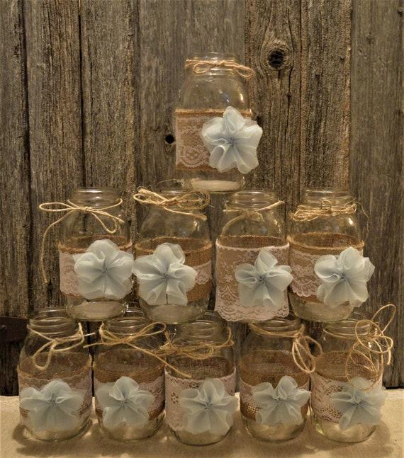 Wedding Ideas Using Mason Jars: Baby Boy Shower Decorations 12 Mason Jar Wedding