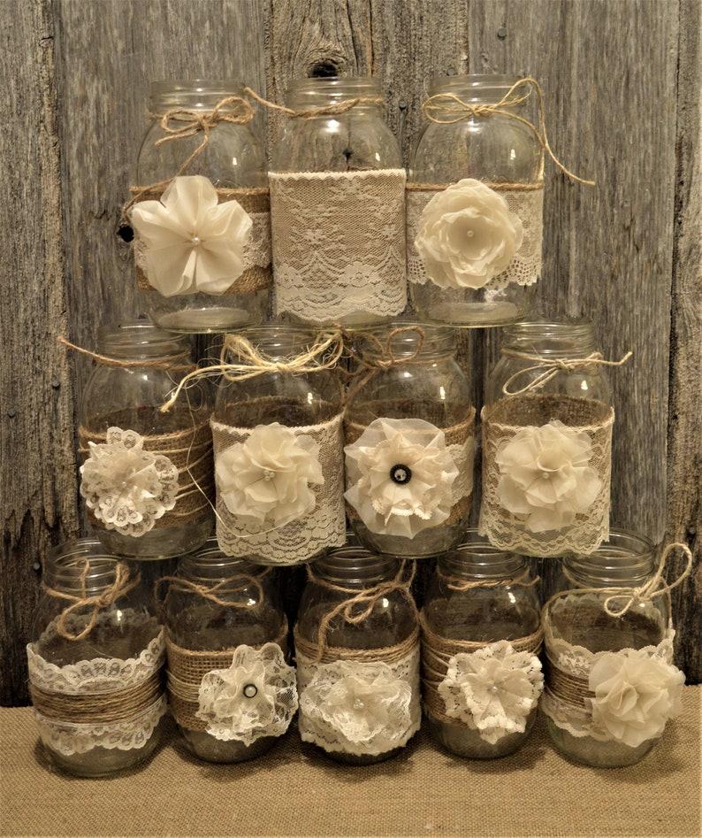 Rustic Wedding Centerpieces.Wedding Centerpieces Rustic Wedding Mason Jar Centerpieces Burlap Mason Jar Jar Not Included Mason Jar Wraps