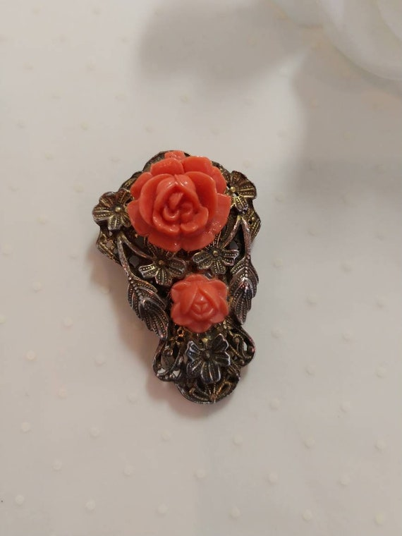 Vintage Celluloid Pin Group Four Pins Celluloid B… - image 2