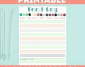 items similar to baby food diary printable log baby food planner