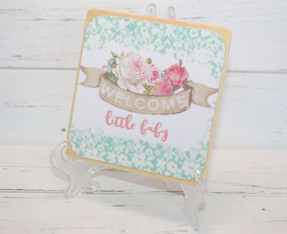 Baby Shower Table Centerpieces Table Decor Baby Girl Shabby Chic Nursery Room Shelf Welcome Table