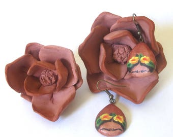 Frida - Handmade Mexican Clay Earrings