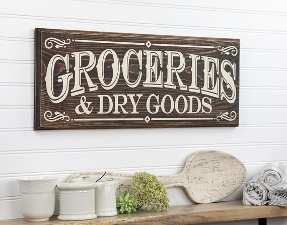 New Primitive Country Rustic Farmhouse GENERAL STORE SIGN Grocery Pantry Kitchen