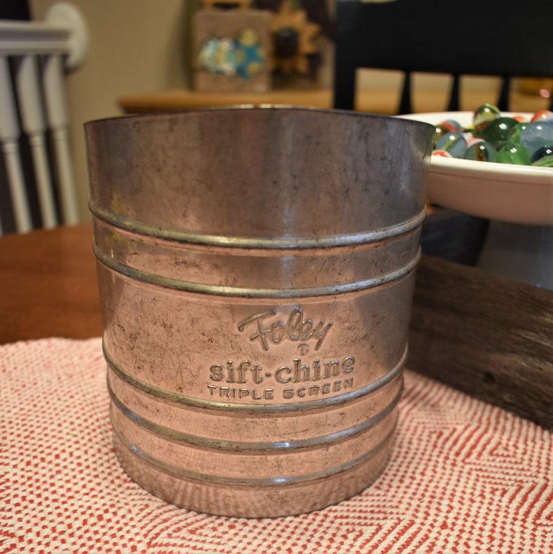 Vintage Foley SifterSift-ChineFlour SifterMetalHand CrankFarmhouse Kitchen