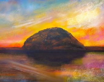 Ailsa Craig Dusk | Scottish Art Painting Prints | Made In Scotland