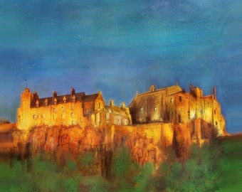 Stirling Castle | Scottish Art Painting Prints | Made In Scotland