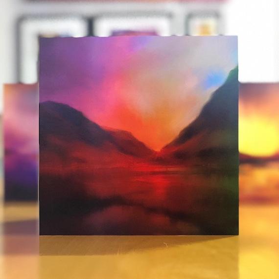 Glencoe sunset scottish fine art greetings cards etsy image 0 m4hsunfo