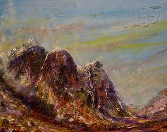 The Three Sisters Glencoe | Scottish Art Painting Prints | Made In Scotland