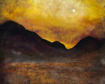 Glencoe Moonlight | Scottish Art Painting Prints | Made In Scotland