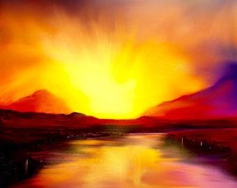 Skye Sunset | Scottish Art Painting Prints | Made In Scotland