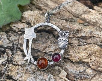 Blue Ridge Mountains Raw Necklace Creek Rock necklace Moonstone Necklace Mountain Jewelry Earthy Necklace OOAK For her Creek Rock