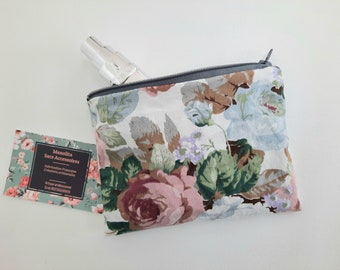 Vintage fabric makeup bag, multifunction pouch