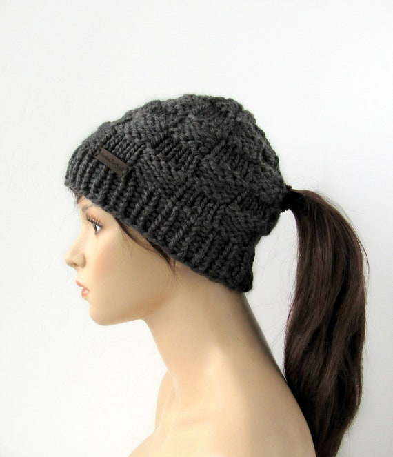 22bae3dbf5559 Ponytail Hat Ponytail Beanie Low Ponytail Hole Hats