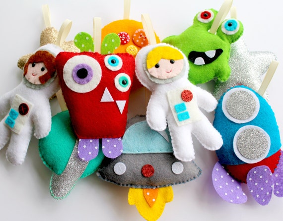Pdf Instructions For Felt Bright Aliens And Astronauts Etsy