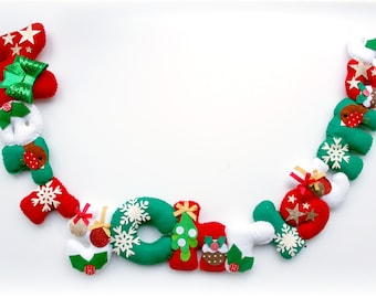 Make Your Own felt Merry Christmas Garland Kit. Sewing pattern. DIY Craft. Sew Your Own. Craft kit.