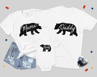 fbb48e7b Mama Bear Daddy Bear Baby Bear Family T-shirt Set Matching Shirts Cute  BFF's Besties Set Children's Father and Son Fathers Day