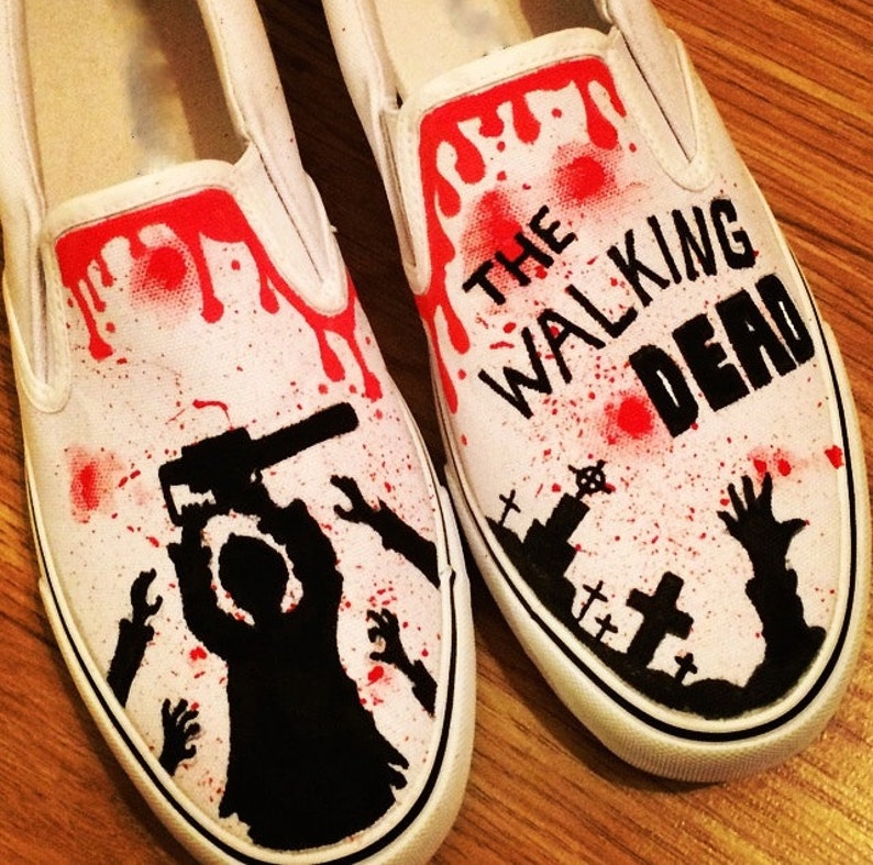 73aef82c6f7830 The Walking Dead Shoes Custom Shoes Custom Converse