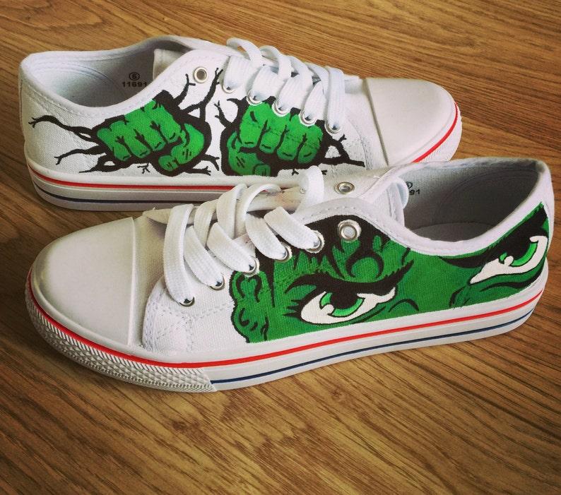 7cc0ed8d8d6e Incredible Hulk Shoes Marvel Custom Shoes Custom Converse
