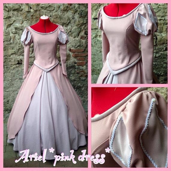 Ariel Pink Dress Princess Disney Little Mermaid Cosplay Etsy