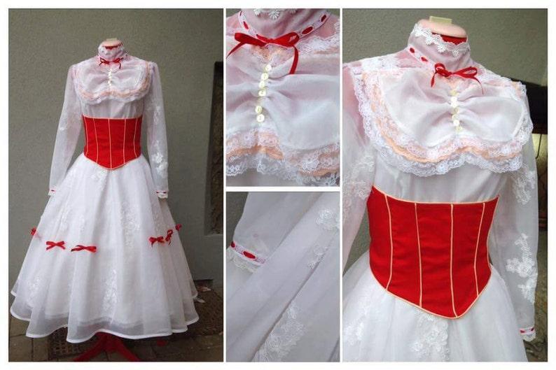 1900s, 1910s, WW1, Titanic Costumes Mary Poppins costume $426.67 AT vintagedancer.com