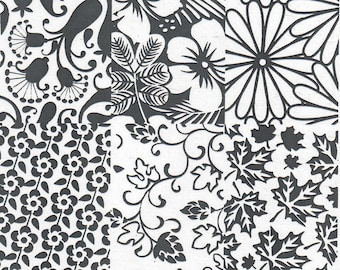 Stamping Plate (assorted florals) ND-Z06