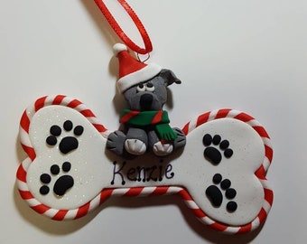 Personalized Polymer Clay Family Wreath Ornament Family