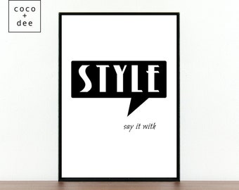 Fashion Quotes Style Typography Dressed To The Nines Etsy