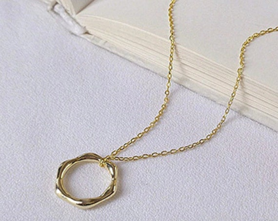 Silver gold geometric necklace for women, Chain necklace, Minimalist dainty necklace, everyday necklace