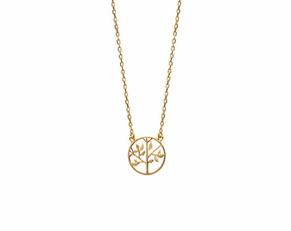 Gold necklace Tree of Life for women, Chain necklace, Minimalist and Dainty necklace, everyday necklace