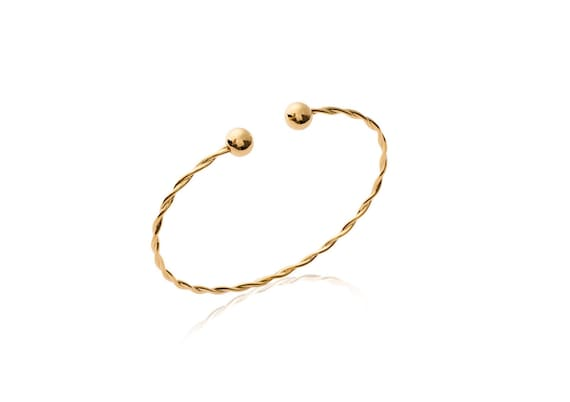 Gold bangle bracelet for women, jewelry bracelet, layering bracelet, minimalist and dainty bracelet, everyday bracelet