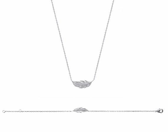 Silver feather Bracelet for Women, Chain bracelet,  Thin and Dainty bracelet,  jewel minimal bracelet, everyday bracelet